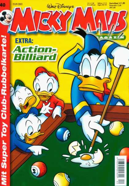 Micky Maus 2353 - Walt Disneys - Action - Billiard - Magazin - 23092003