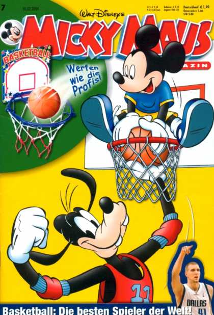 Micky Maus 2373 - German - Goofy - Basketball - Mavericks - Dallas