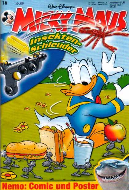 Micky Maus 2382 - Food - Sandwiches - Walt Disney - Donald Duck - Apple