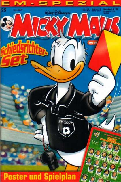 Micky Maus 2391 - Disney Comic - Dafy Duck - Duck In Black Shirt - Soccer Game - Foreign Comic