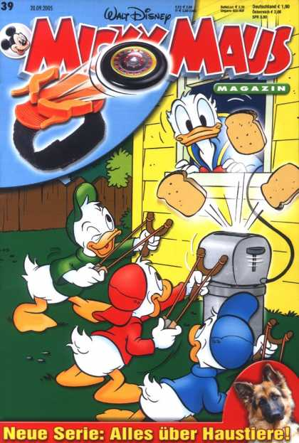Micky Maus 2457 - Walt Disney - Donald Duck - Huey Dewey And Louie - Toaster - Sling-shots