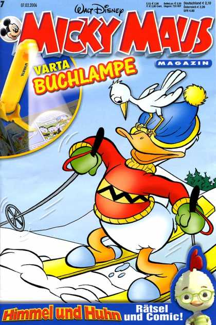 Micky Maus 2477 - Donald Duck - Skiing - Winter - Snow - Hat
