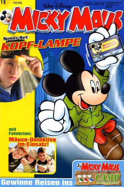 Micky Maus 2482 - Disney - German - Mickey Mouse - Detective - Camp