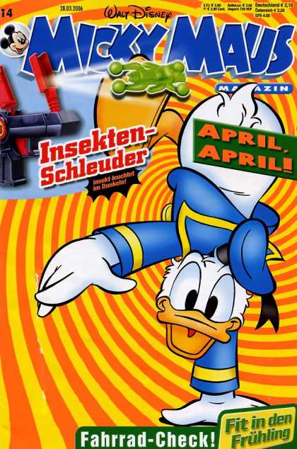 Micky Maus 2484 - Mickey Mouse - German - Walt Disney - April - Donal Duck