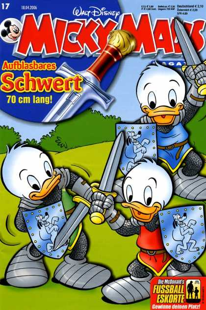 Micky Maus 2487 - Mickey Mouse - German - Sword - Knights - Ducks
