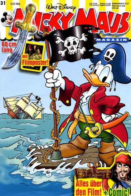 Micky Maus 2501 - Donald Dock - 60 Cm Lang - Mit Filmposter - German - Pirates Of The Carribean