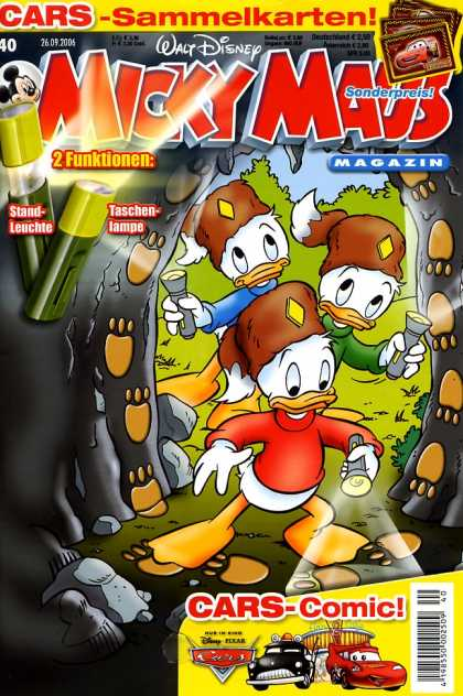 Micky Maus 2510 - Mickey Mouse - Nephews - Cave - Tracks - Investigate