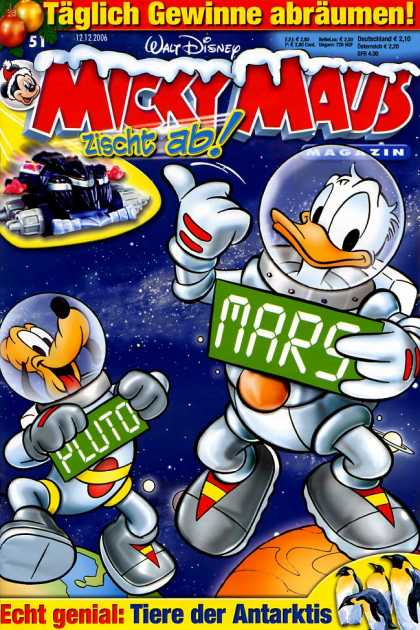 Micky Maus 2521 - Mickey Maus - Mars - Pluto - Space - Donald Duck