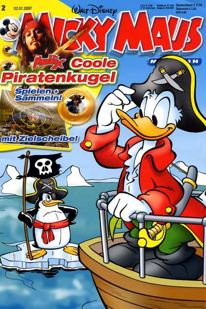 Micky Maus 2524 - German - Donald Duck - Pirate - Maritime - Adventure