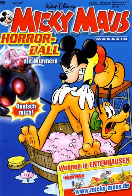 Micky Maus 2548 - Mickey Mouse - Pluto - Bath - Horror-ball - Bubbles