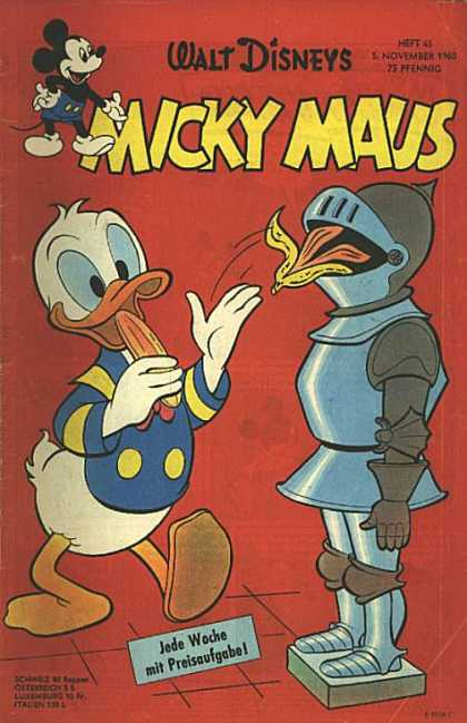 Micky Maus 255 - Walt Disney - Banana Peel - Armour - Duck - Donald