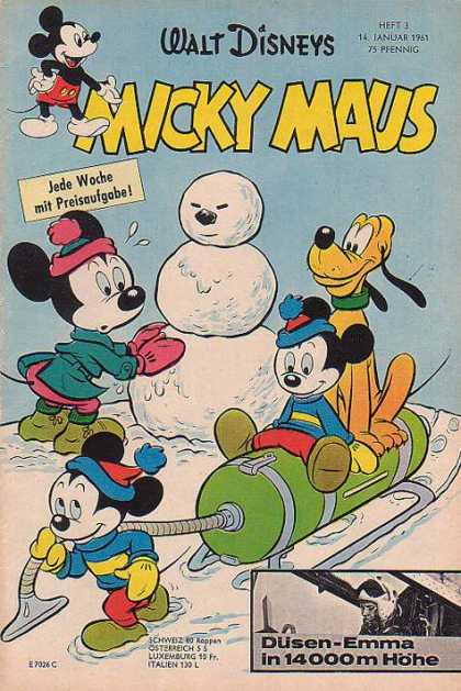 Micky Maus 265 - Walt Disney - German - Micky - Minnie - Pluto
