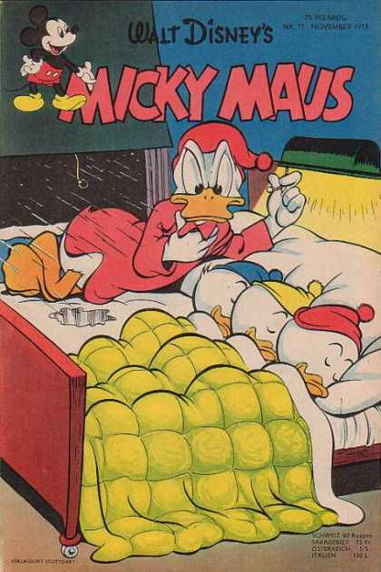 Micky Maus 27 - Donald Duck And Kids - Sleeping Kids - Thinking Father - Laughing Micky - Counting Duck