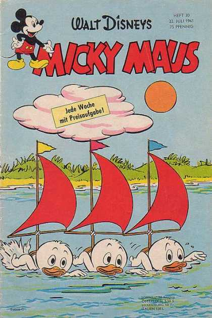 Micky Maus 292 - Disney - Clouds - Sun - Mouse - Ducks