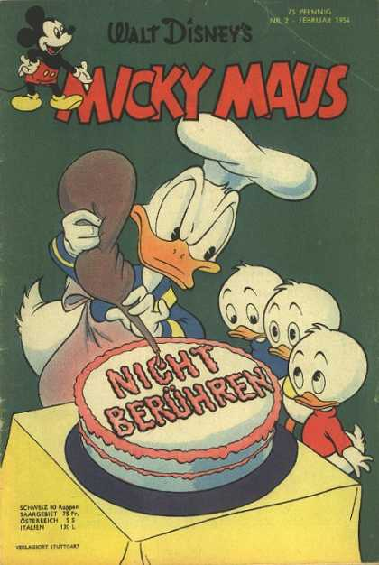 Micky Maus 30 - Donald Duck - Ducklings - Cake - Icing - Table