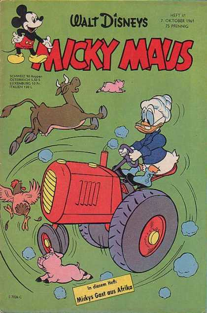 Micky Maus 303 - Duck - Farm - Cow - Tractor - Chicken