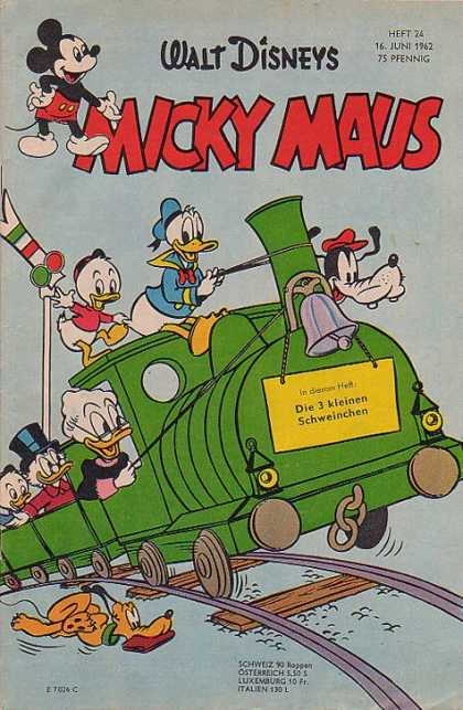 Micky Maus 339 - Mickey Mouse - Ugly Duckling - Train - Hat - Duck
