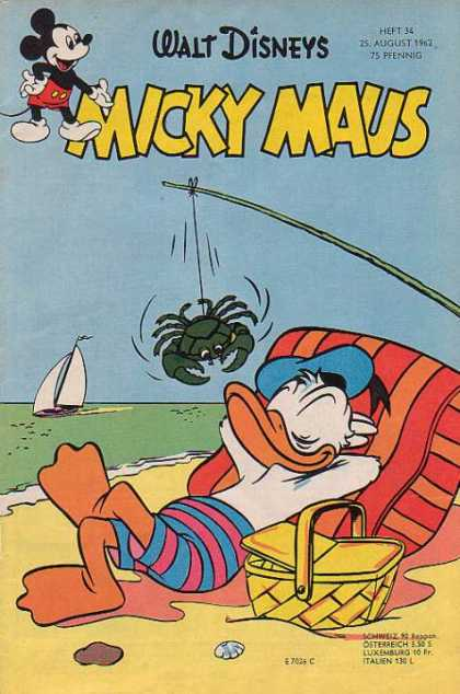 Micky Maus 349 - Walt Disneys - Boat - Water - Relaxed - Beach