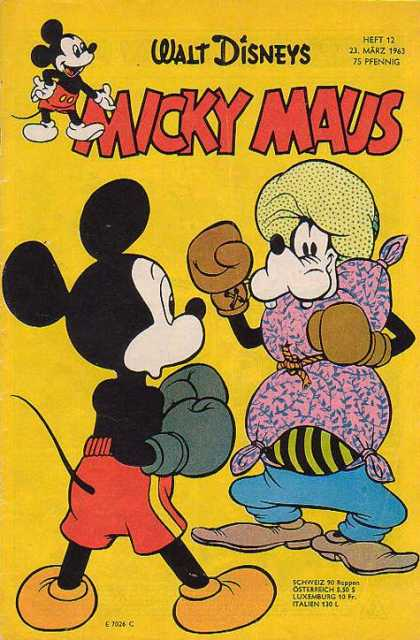 Micky Maus 379 - Walt Disney - Goofy - Pillow - Boxing Gloves - Rope