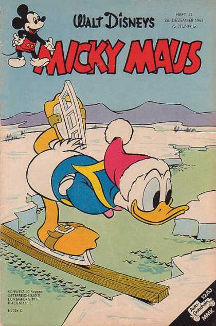 Micky Maus 419 - Walt Disneys - Dezember - Ice - Water - Donald Duck