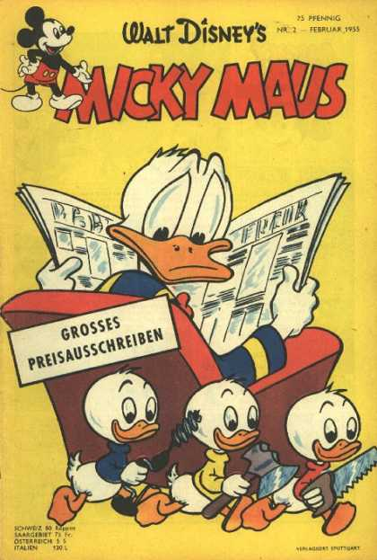 Micky Maus 42 - Mickey Mouse - Walt Disney - German - Donald Duck - Newspaper