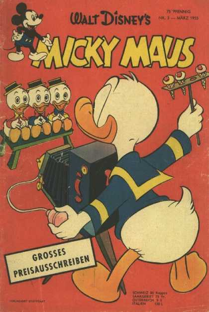 Micky Maus 43 - Duck - Mouse - Letters - Food - Hat