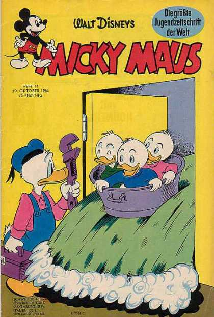 Micky Maus 460 - Donald Duck - Hewy - Dewy - Lewy - Plumber