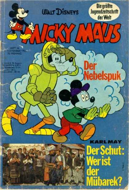 Micky Maus 465 - German Comics - Mickey Mouse - Pluto In A Suit - Blue Cloud - Karl May