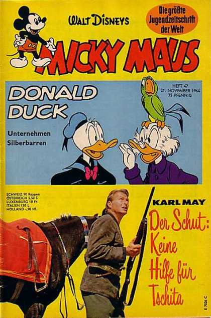Micky Maus 466 - Donald Duck - Parrot - Pfennig - Karl May - Rifle