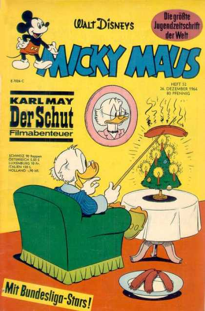 Micky Maus 471 - Karl May - Hot Dog - Christmas Tree - German - Candles