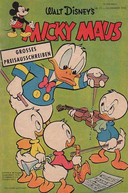 Micky Maus 51 - Mickey Mouse - German - 11 - November 1955 - Donald Duck