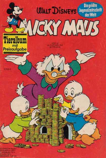 Micky Maus 514 - Huey - Dewey - Louie - Uncle Scrooge - Money Pile