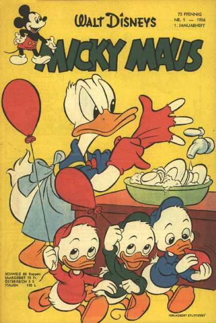 Micky Maus 53 - Walt Disney - Micky Maus - Donald Duck - Red Balloon - Washing Dishes
