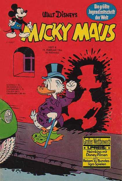 Micky Maus 531 - Mickey Maus - Mickey Mouse - Scrooge - German - Car Splashes Mud On Scrooge