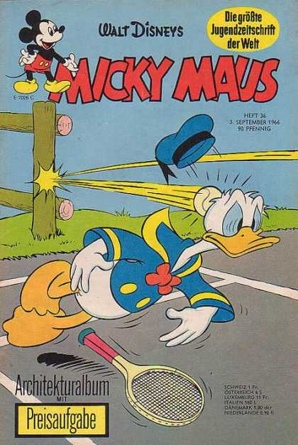 Micky Maus 559 - Donald Duck - Tennics Ball - Hit - German - Architekturalbum Mit Preisaufgabe