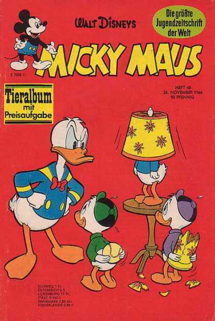 Micky Maus 571 - Donald Duck - Huey Dewey Louie - Broken Lamp - Baseball - Lamp Shade