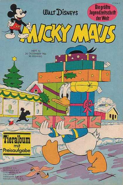 Micky Maus 575 - Rat - Duck - Buildin - Sky - House