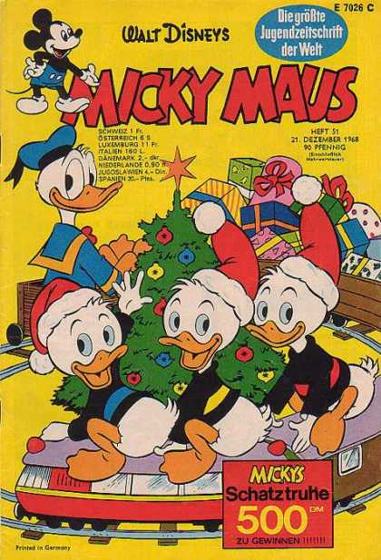 Micky Maus 679 - Walt Disney - Donald Duck - Christmas Presents - Christmas Tree - Toy Train