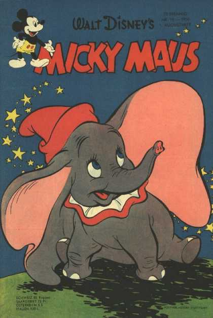 Micky Maus 68 - Dumbo - Elephant - Red Hat - Big Ears - Stars