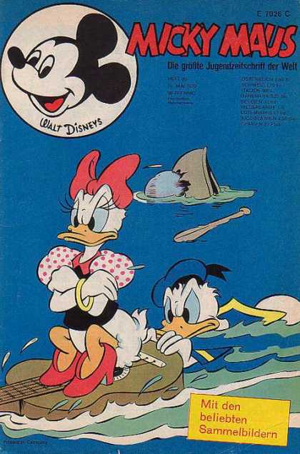 Micky Maus 752 - Daisy And Donald Go Canoeing - Daisy And Donalds Bad Date - Donald Goes Swimming - Lake - Romance
