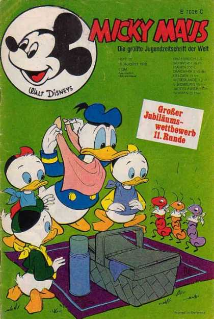 Micky Maus 765 - Disney - Mickey Mouse - Donald Duck - Picnic - Ants Eating Food
