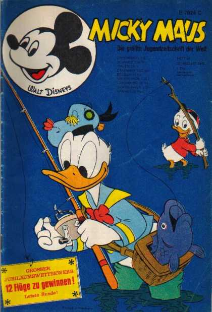 Micky Maus 766 - Donald Duck - Fishing Pole - Fish - Ocean - Flies