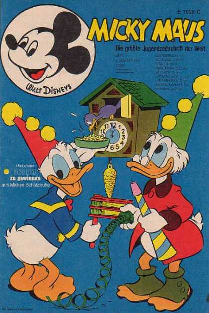 Micky Maus 785 - Donald Duck - Uncle Scrooge - Cuckoo Clock - Bird Food - Party Hats