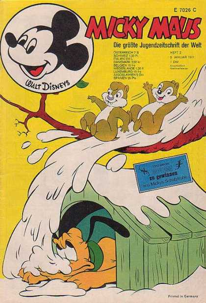Micky Maus 786 - Snow - Tree Branch - Dog House - Pluto - Chip N Dale