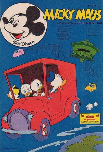 Micky Maus 790 - Mickey Mouse - Car - Wheel - Globe - Red