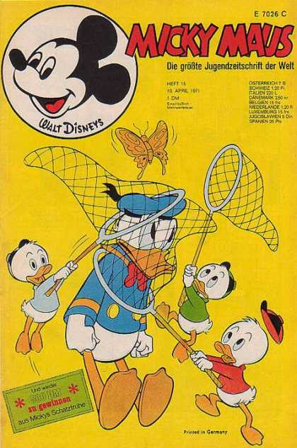 Micky Maus 799 - Donald Ducks - Butterfly - Nets - Donald Ducks Nephews - Germany