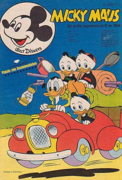 Micky Maus 807 - Donald Duck - Huey - Duey - Louie - Camping