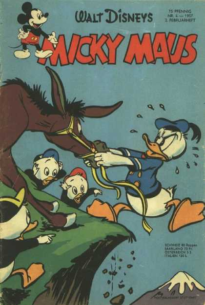 Micky Maus 82 - Donald Duck - Donkey - Pull - Falling In A Cliff - Nephews