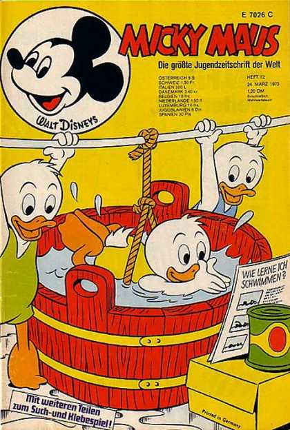 Micky Maus 901 - Disney - Ducklings - Mickey Mouse - Bathtub - Swimming