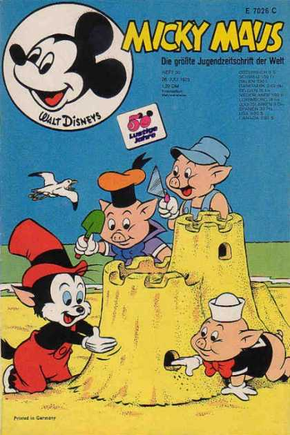 Micky Maus 919 - Mickey Mouse - Three Little Pigs - Cat - Sand Castle - Bird